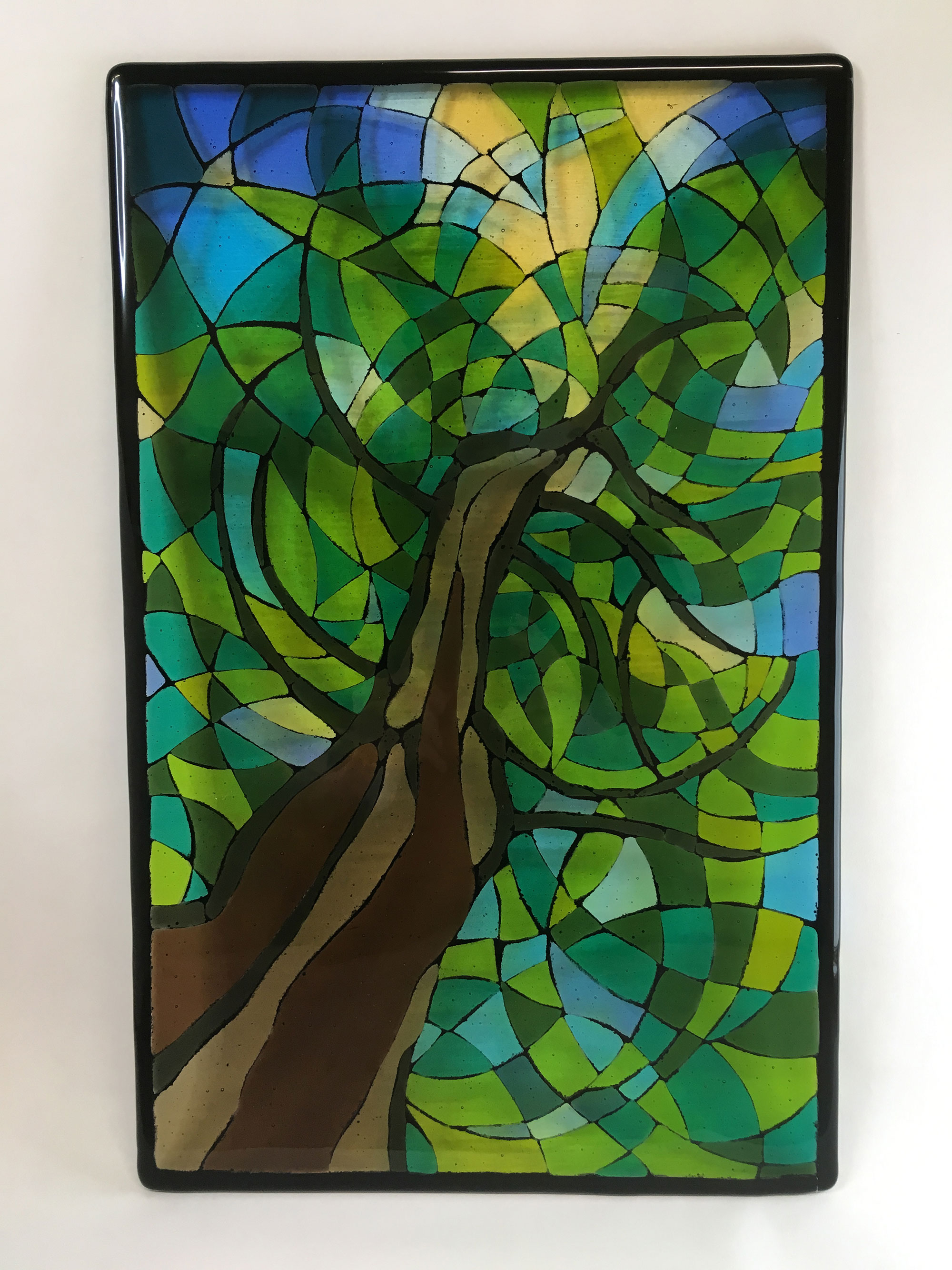 Fused Stained Glass Tree