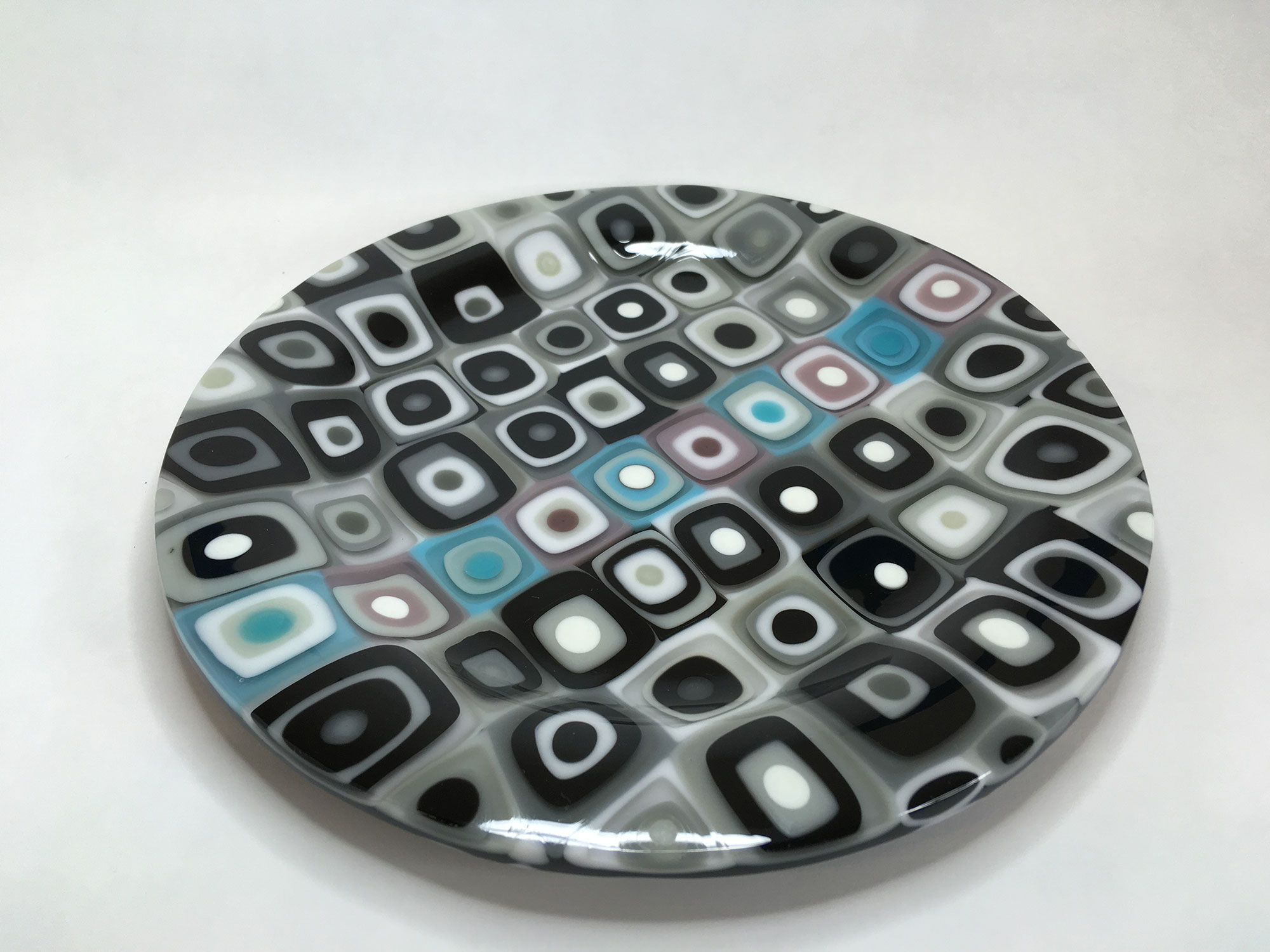 Gray, Black, Blue and Lavender Stack Construction Plate