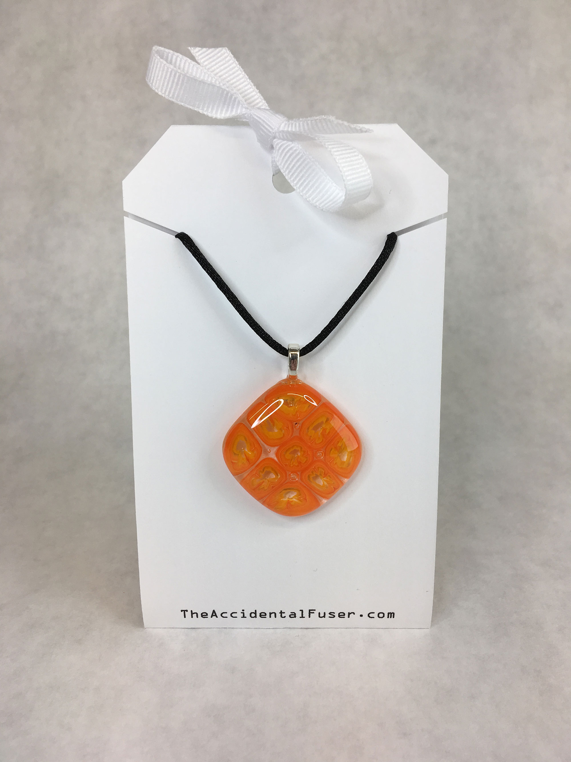 Orange Murrine Pendant