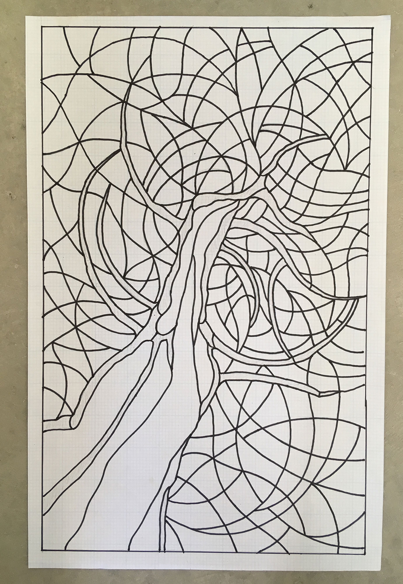 Line Art for Tree