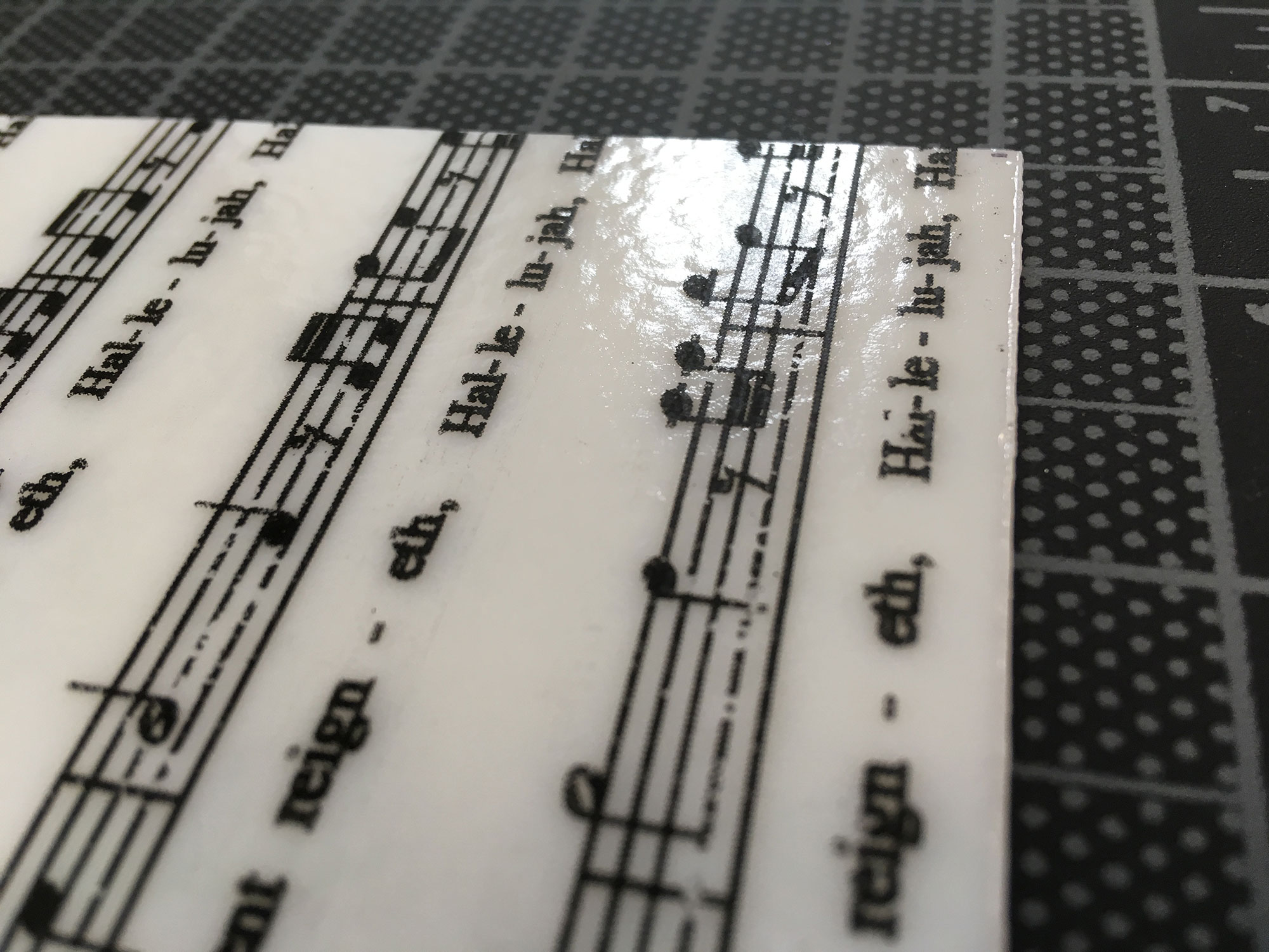 Smaller Print on Dense White