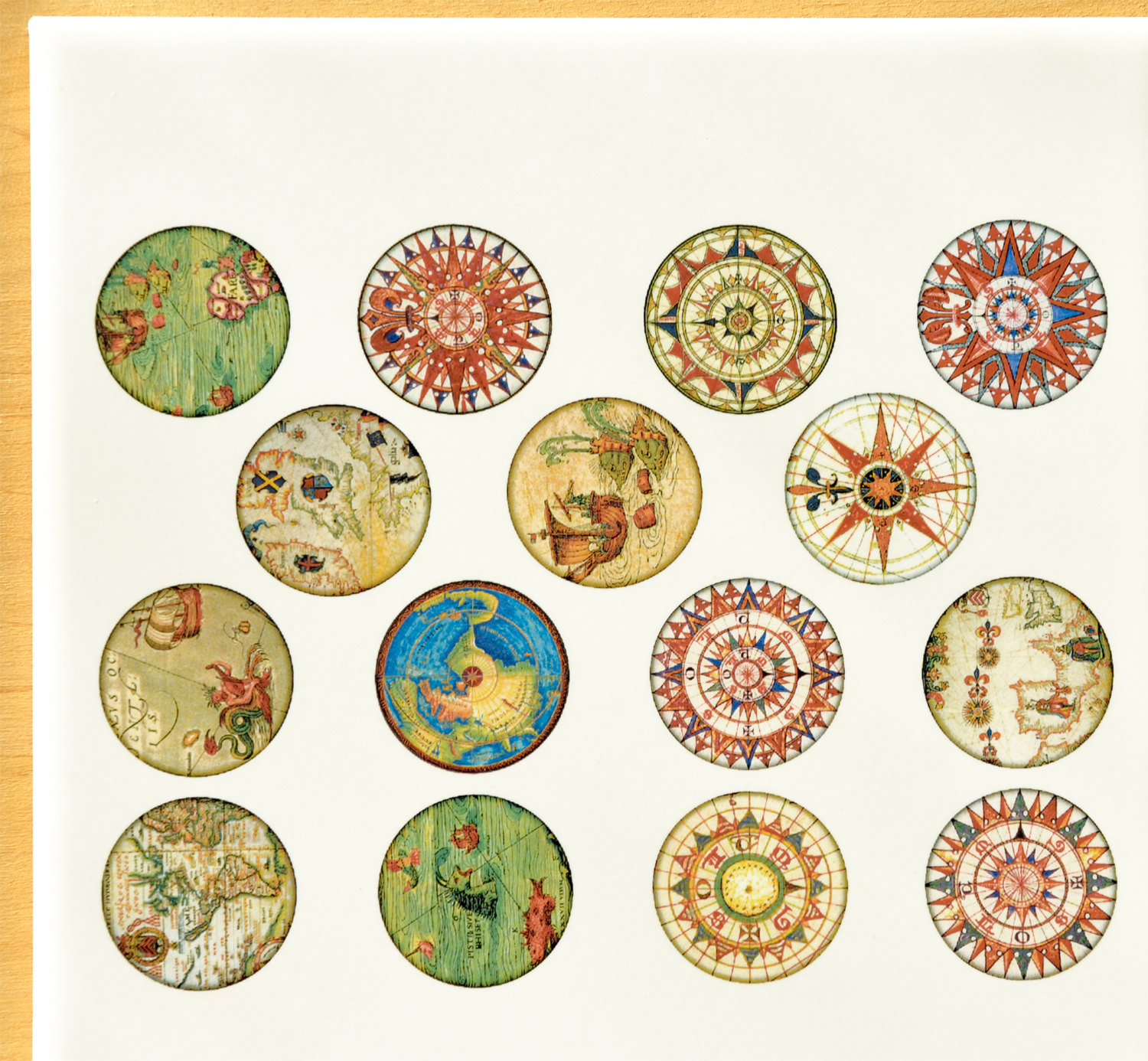 Antique Map Circles