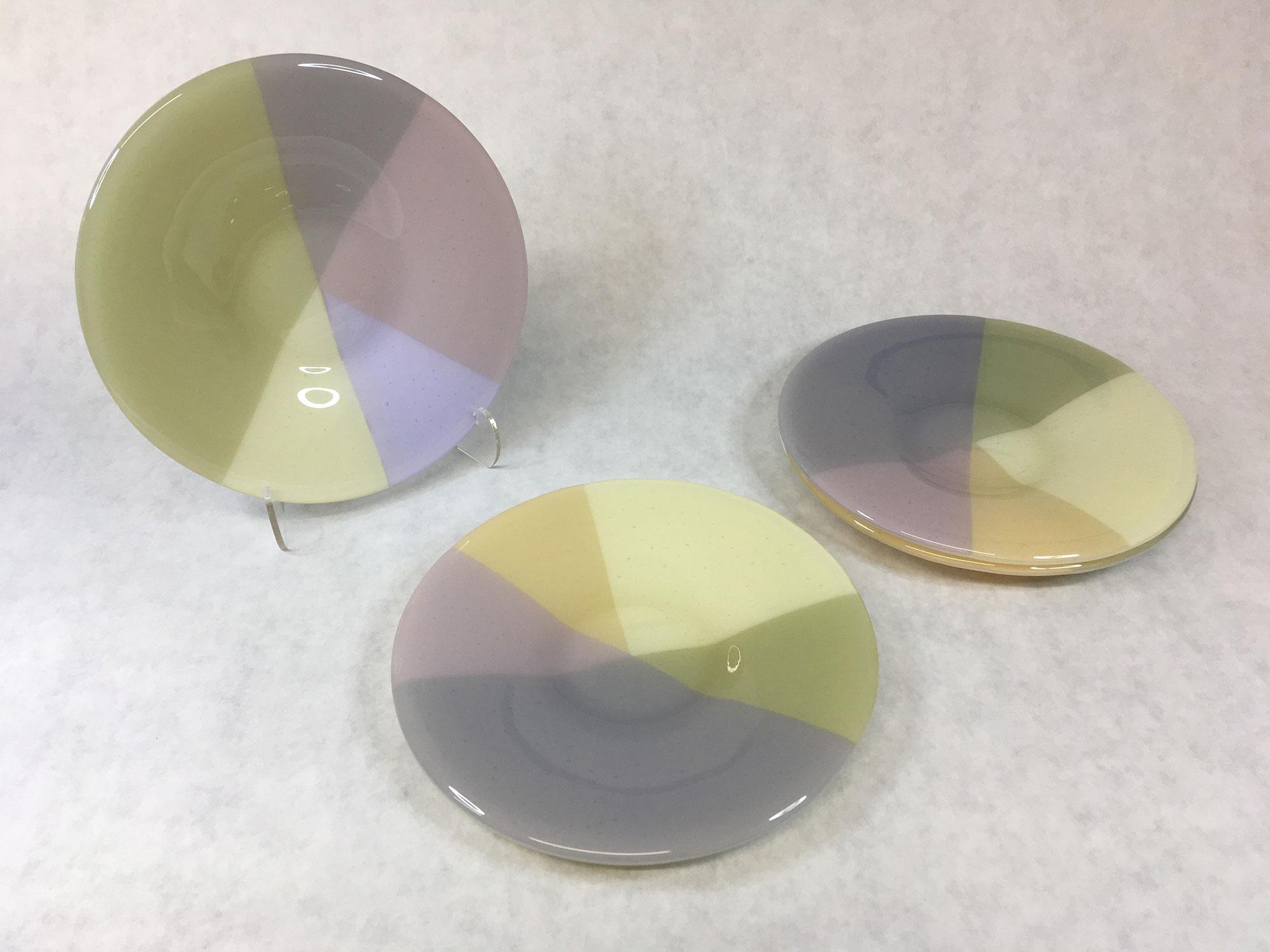 Four Pastel Plates